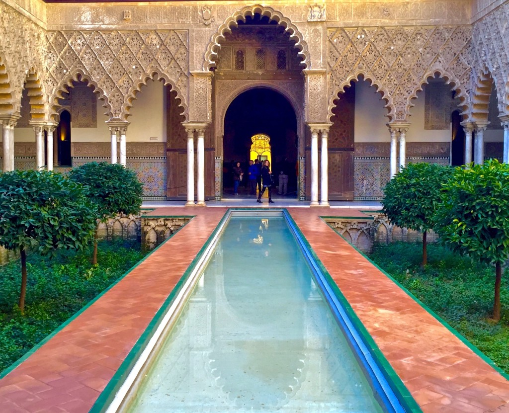 the alcazar in Seville, Spain