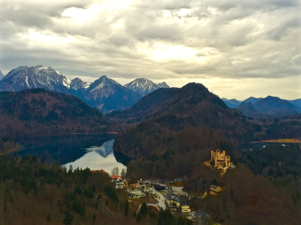 view from Neuschwanstein Castle, Germany - the cost of travel
